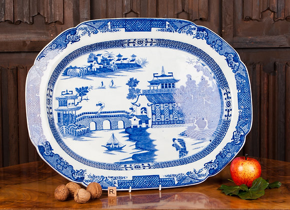 Blue and White Charger c1870