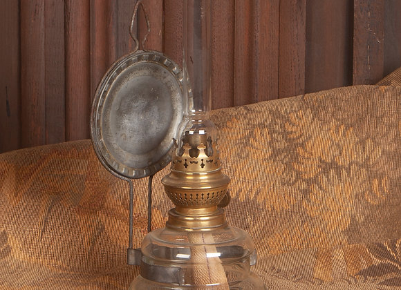 Victorian Paraffin lamp with reflector