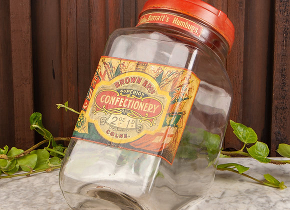 Early 20th Century Confectioner's Sweetie Jar