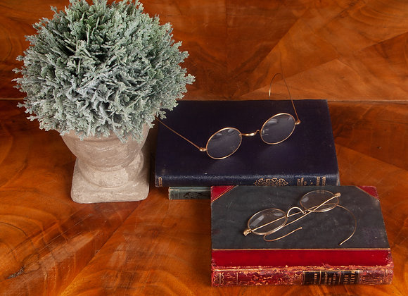 2 x Victorian Gilt Rimmed Spectacles