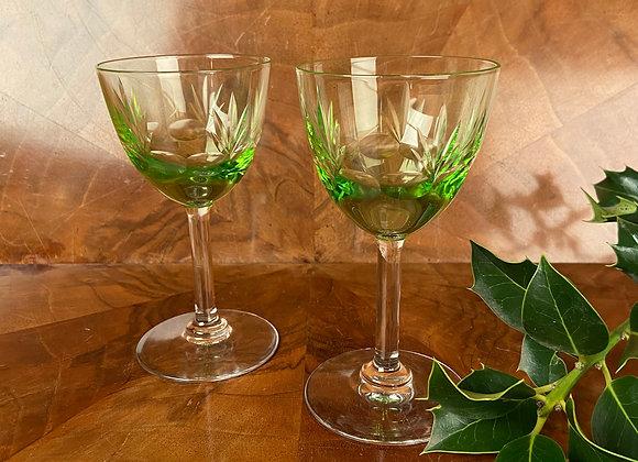 Pair of Uranium Glasses