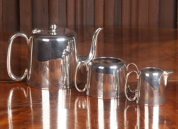 An Early 20th Century Silver Plated Hotel Ware Tea Service