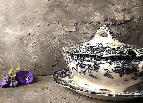 Victorian Ironstone Tureens with Stand