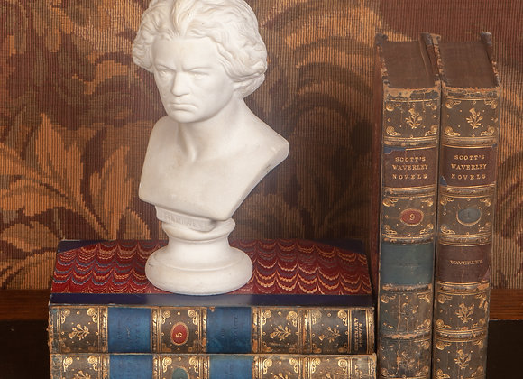 A Small Late Victorian Bust of Beethoven