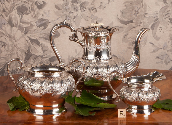 A Victorian Silver Plated Coffee Service