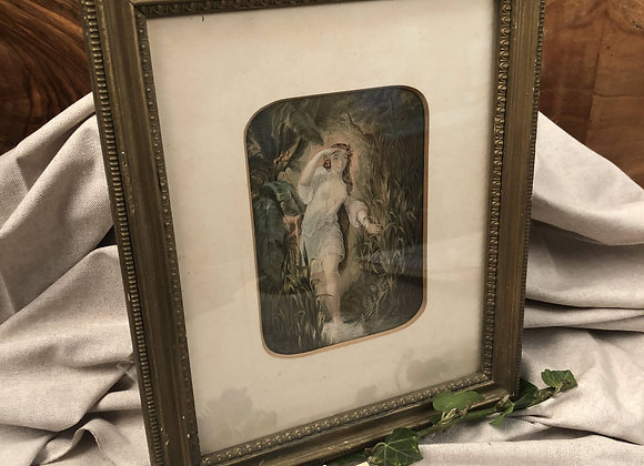 Baxter Print of a Young Maiden