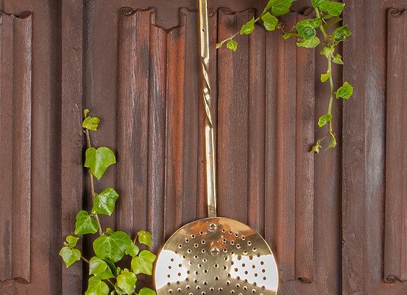 A Victorian Large Brass Skimmer