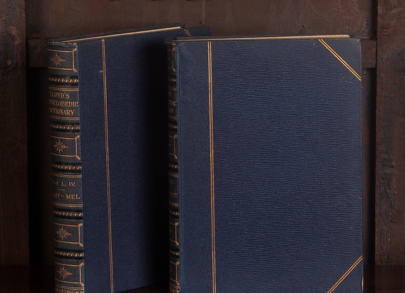 2 x Early 20th Century Volumes of Lloyds Encyclopedic Dictionaries