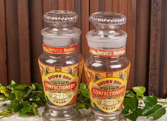 Two Early 20th Century Sweet Shop Jars