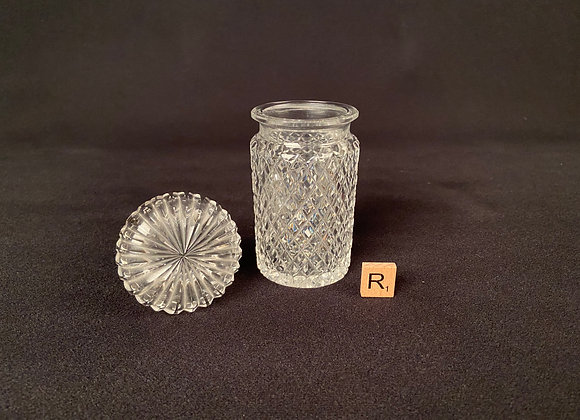 Victorian Cut Glass Lidded Jar