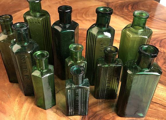 Small Green Poison Bottles