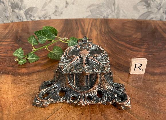 Ornate Copper Inkwell