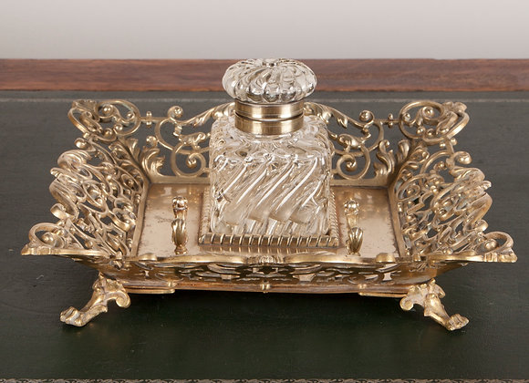 Large Victorian Ink Stand
