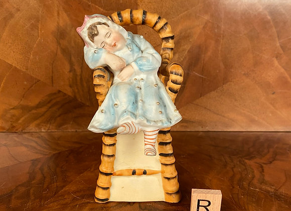Victorian Bisque Figure of a Child in a High Chair