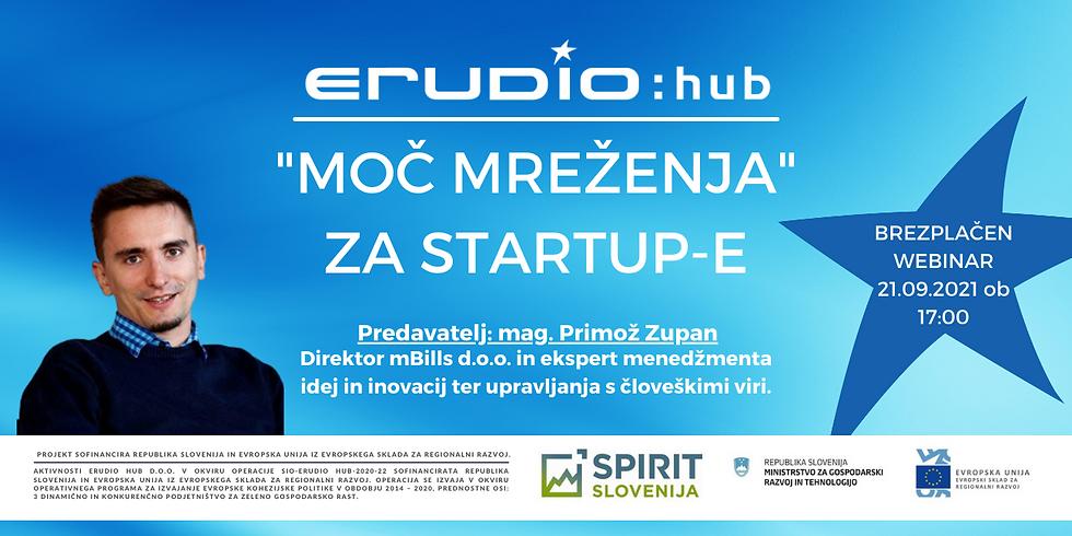 """Moč mreženja"" za startup-e"