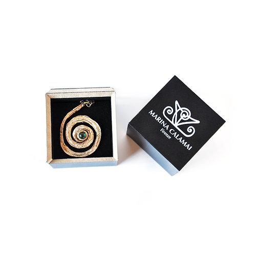 Collana Spirale Piccola con pietra cabochon - Small Spiral with Small Cabochon S