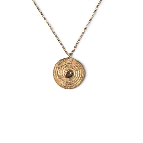 Collana Spirale con Spiralina Fossile-Spiral with Fossil Snail Necklaced