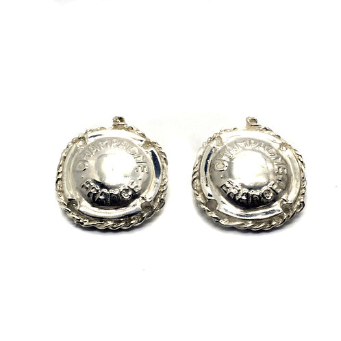 Orecchini Champagne Argento - Silver Champagne Earrings