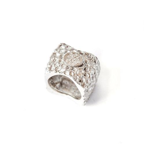 Seasponge 4D ring Argento - Seasponge 4D ring Silver