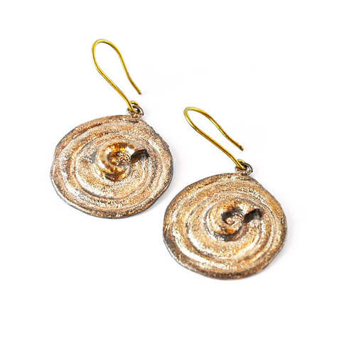 Orecchini Spirale con Spiralina - Spiral and Snail Earrings