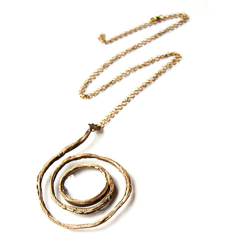 Collana Lente Grande e Spirale - Spiral Big Lens Necklace