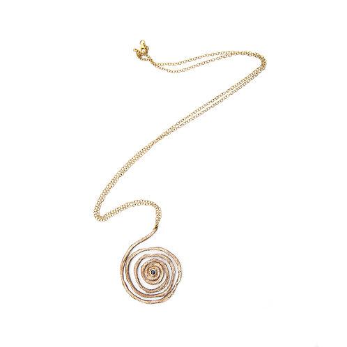 Collana Spirale Grande con pietra cabochon