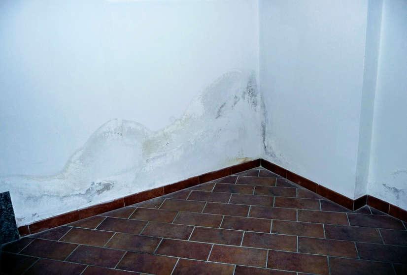 L'umidità residua nel muro