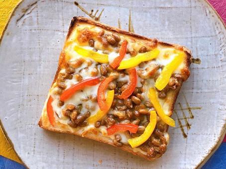 17.納豆とチーズの香ばしいダブル発酵トースト