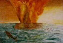 Dei del mare e del vento - tempera grassa su tela