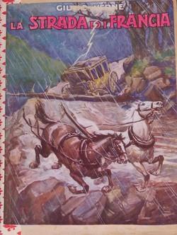 Cop. La strada di Francia - J.Verne - ( Ed. circa 1900 )