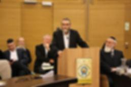 הרב גפני באירוע של האנציקלופדיה התלמודית