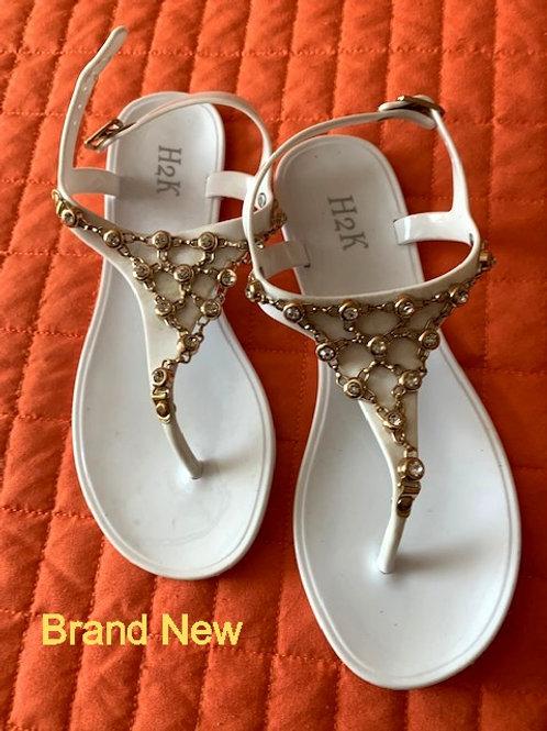 H2K Jelly White Sandals