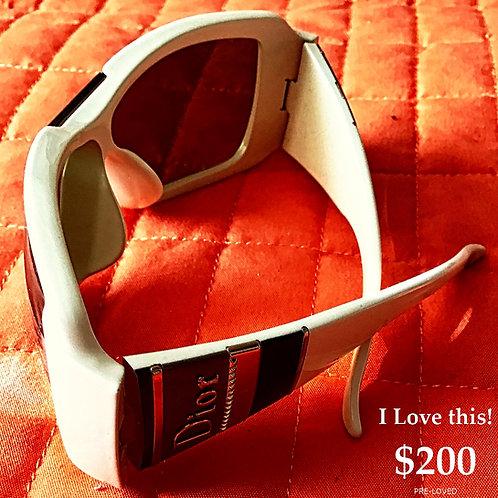 White Dior Sunglasses