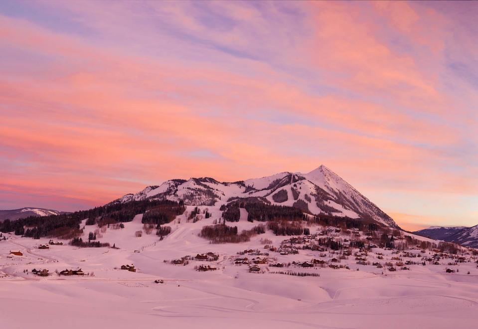 Mt CB Winter Sunset