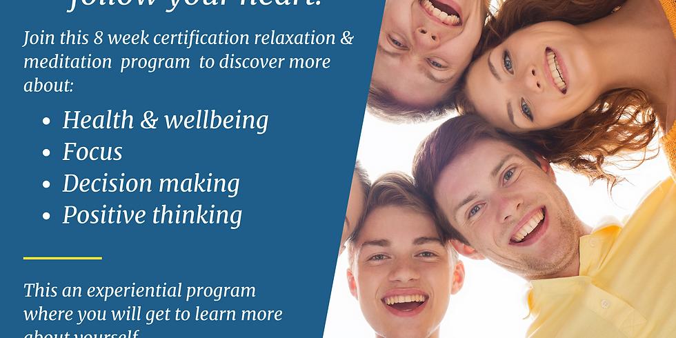 Heartful Meditation for Teens 8 Session Certification Program