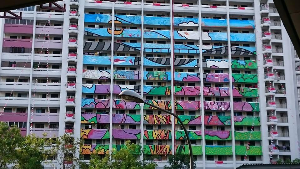 SG 50 HDB Flat Mural Painting - 05