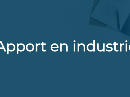 Apport en industrie