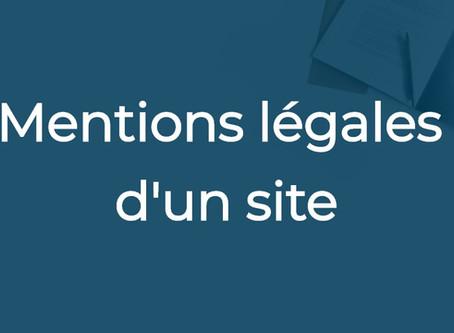 Les mentions légales d'un site
