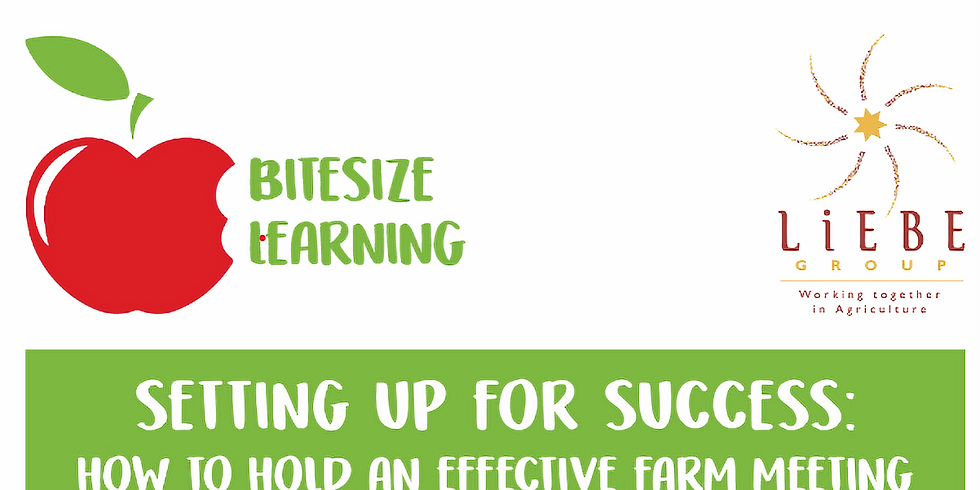 Setting Up for Success: How to hold an effective farm meeting