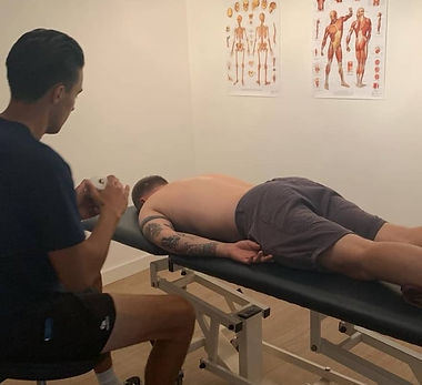 Injury assessment of sporting injury and back pain neck pain joint pain