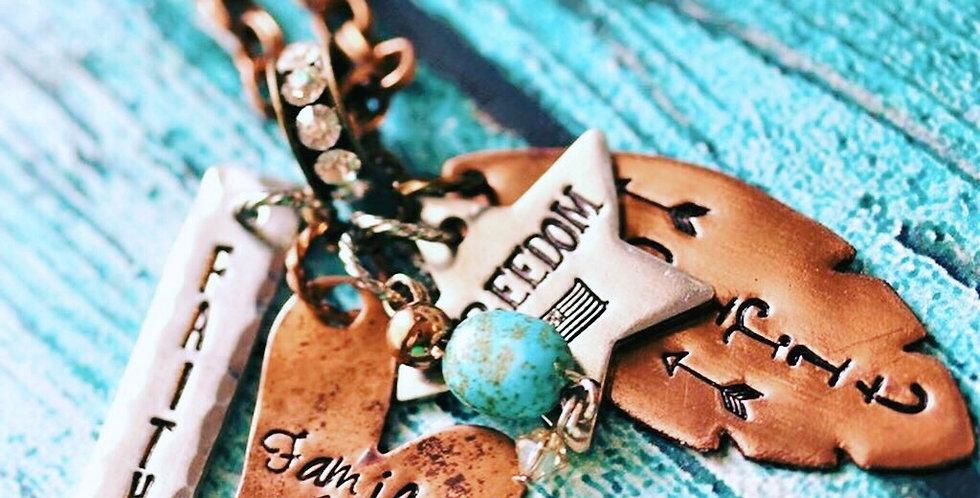 Faith & Family Mixed Metals Necklace