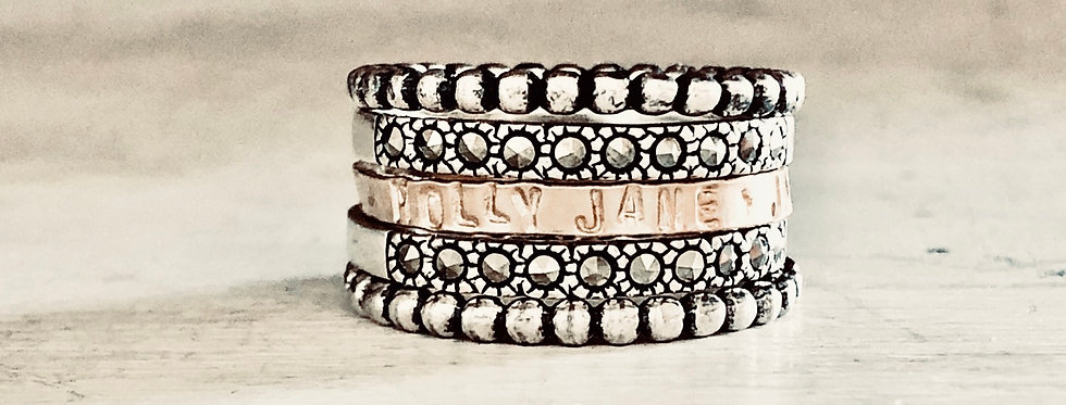 Classy Kate Ring Stack-Silver
