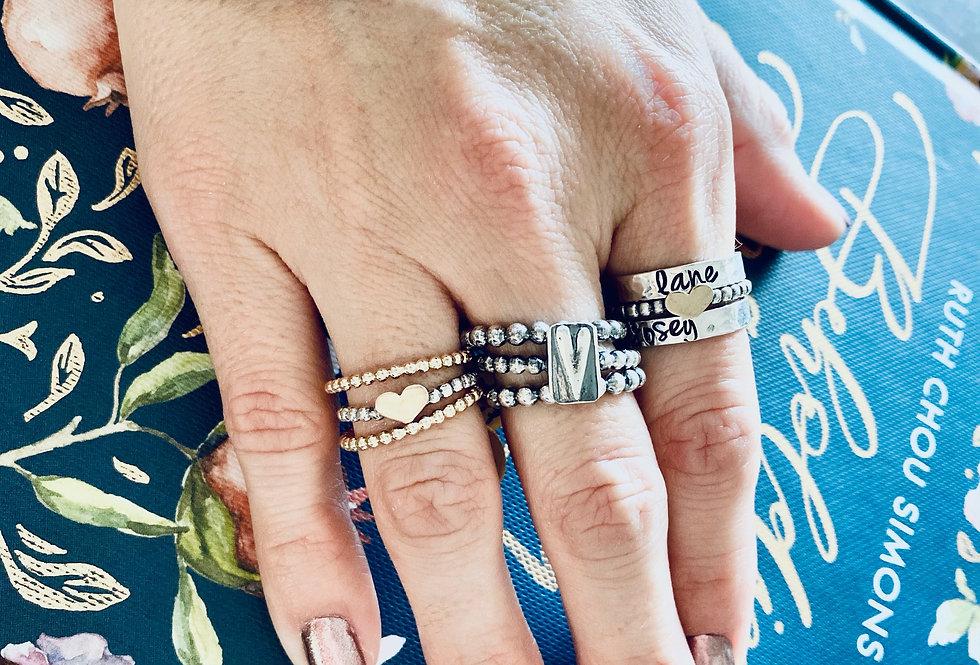 Golden Love ring Set