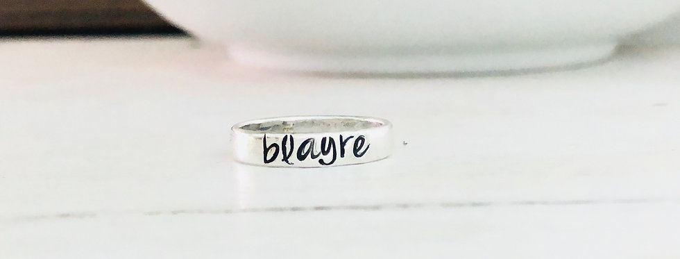 Personalized Stack Ring - 1 Ring - Smooth