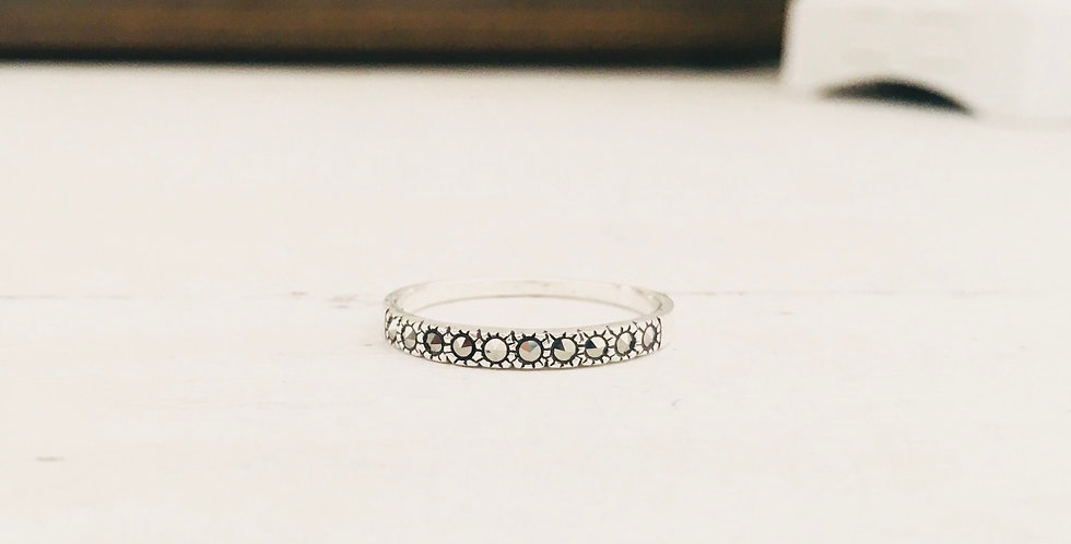 1 Marcasite Stackable Ring