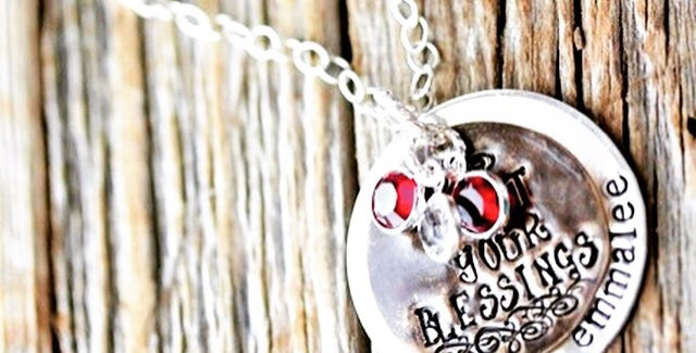 Count Your Blessings Personalized Necklace