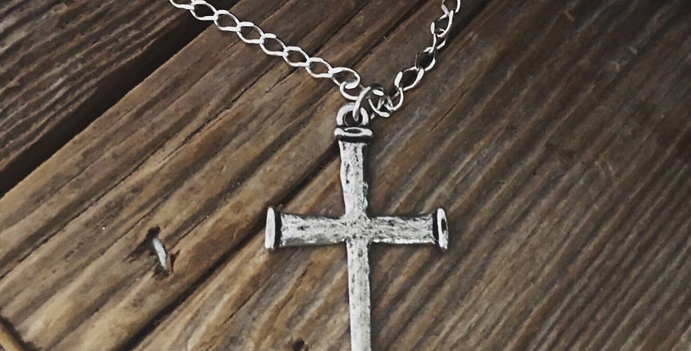 Nails Cross Necklace- Large