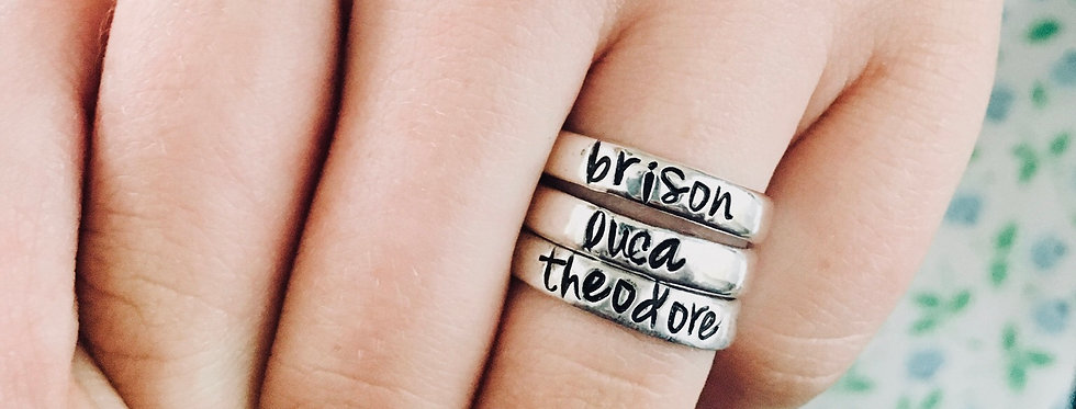 1 Personalized Stack Ring-Smooth finish• 4mm