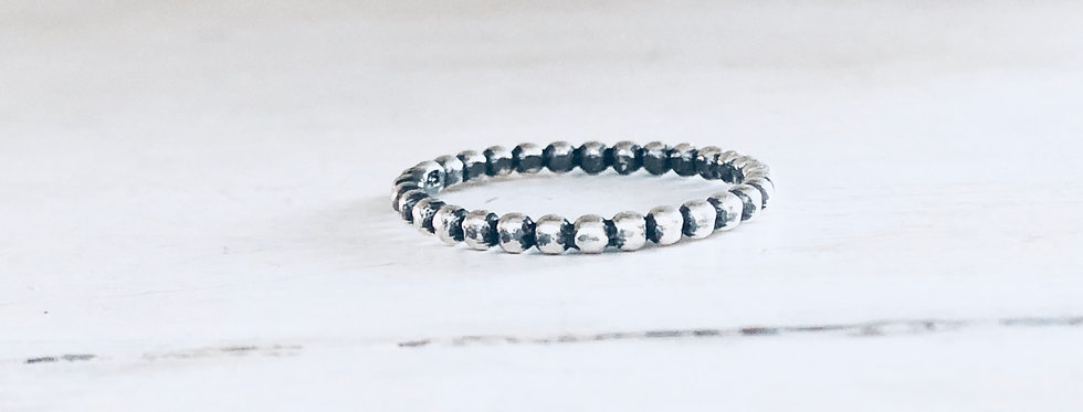 Beaded Stackable Ring 2mm