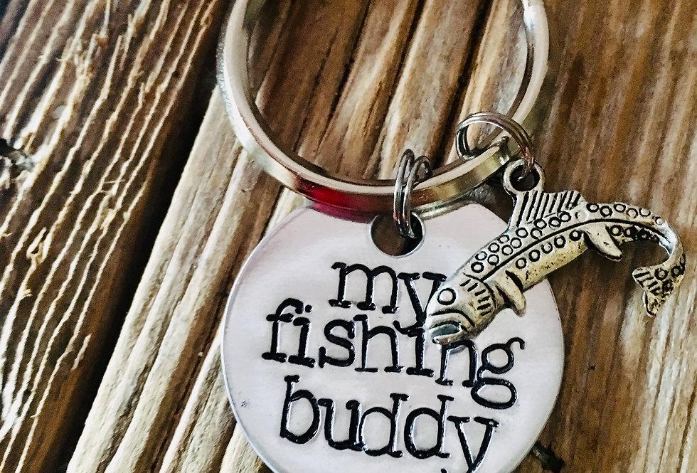 My Fishing Buddy Key Chain